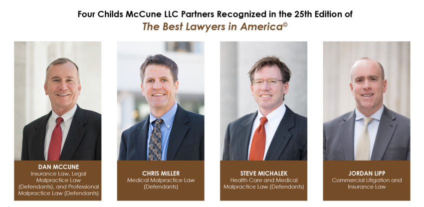 Four Childs McCune LLC Partners Recognized in the 25th Edition of The Best Lawyers in America©
